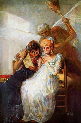 Suggestive Painting - Time Of The Old Women by Francisco Goya