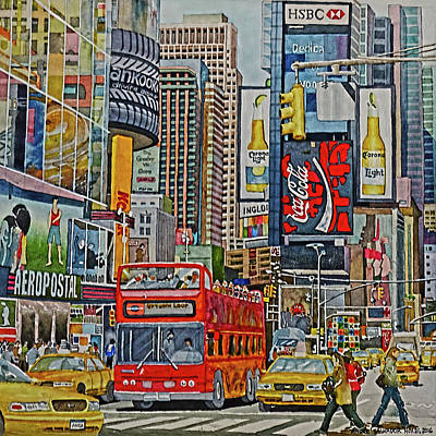 Painting - Times Square by Andre Salvador