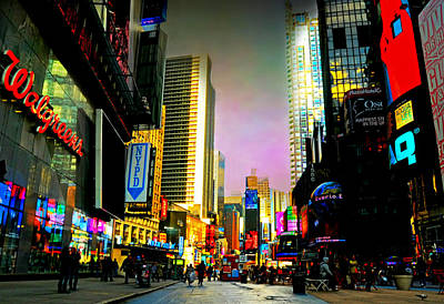 Photograph - Times Square Bling by Diana Angstadt
