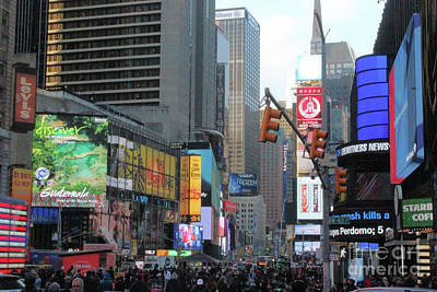 Photograph - Times Square  by Doc Braham