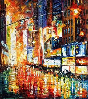 Times Square Original by Leonid Afremov