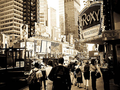 Photograph - Times Square New York by Mickey Clausen