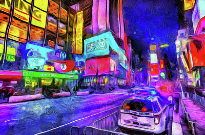 Photograph - Times Square Van Gogh  by David Pyatt
