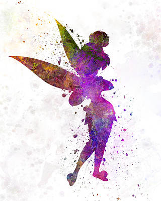 Tinkerbell Painting - Tinkerbell In Watercolor by Pablo Romero