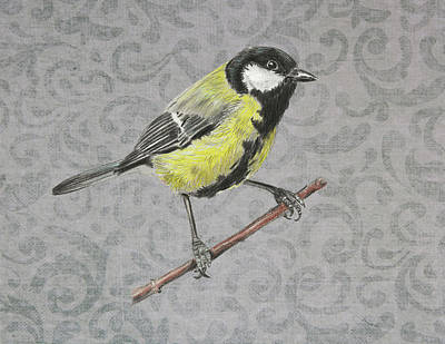 Painting - Tit Bird by Masha Batkova