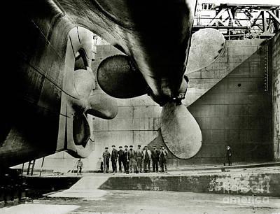 Rms Titanic Photograph - Titanic Propellers by Jon Neidert