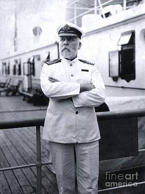 Titanic Photograph - Titanic's Captain Edward John Smith by The Titanic Project