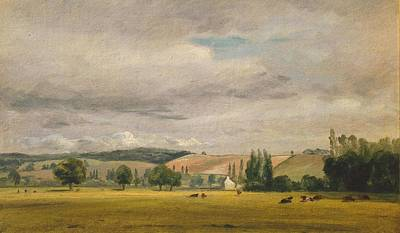 Vale Painting - Title Dedham Vale With The House by John Constable