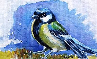 Titmouse Painting - Titmouse by Kovacs Anna Brigitta