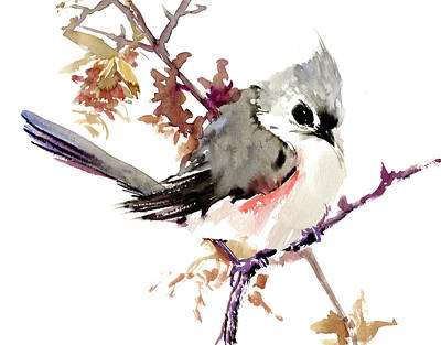 Titmouse Painting - Titmouse by Suren Nersisyan