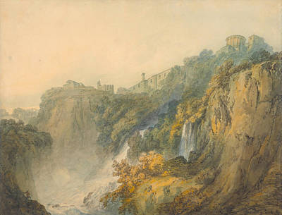 Myths Painting - Tivoli With The Temple Of The Sybil And The Cascades by JMW Turner