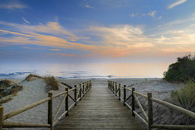 To The Beach Art Print by Guido Montanes Castillo