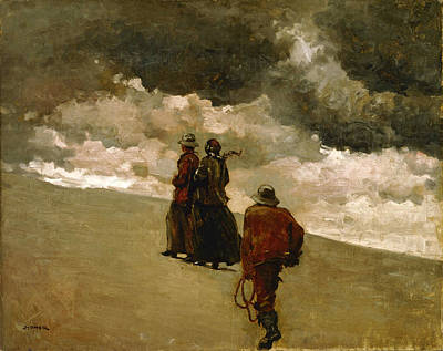 Winslow Homer Painting - To The Rescue by Winslow Homer