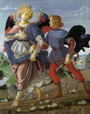 Archangel Art Painting - Tobias And The Angel by Andrea del Verrocchio