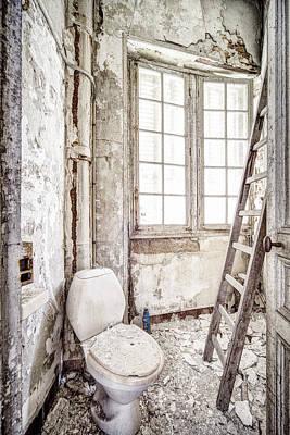 Toilet Escape Abandoned Places Art Print