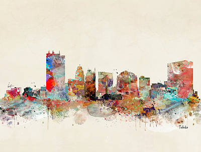 Painting - Toledo Ohio  by Bleu Bri