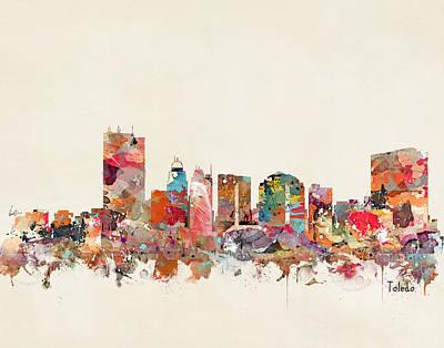 Painting - Toledo Ohio Skyline by Bri B