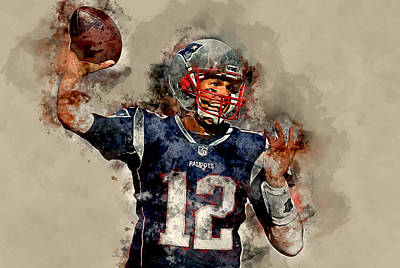 Mixed Media - Tom Brady by Marvin Blaine
