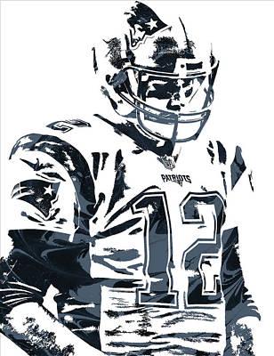 Mixed Media - Tom Brady New England Patriots Pixel Art 4 by Joe Hamilton