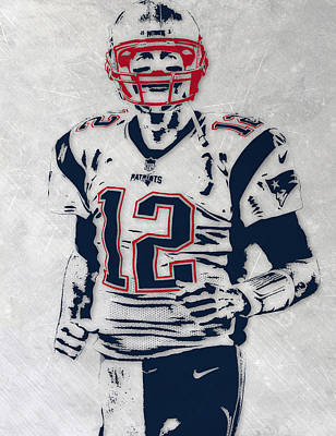 England Mixed Media - Tom Brady New England Patriots Pixel Art 5 by Joe Hamilton