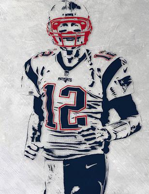Tom Brady New England Patriots Pixel Art 5 Art Print by Joe Hamilton