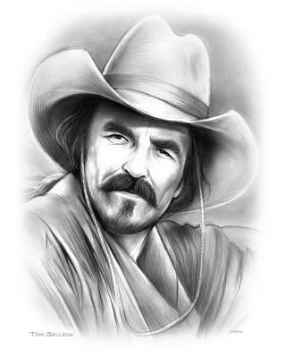 Drawings - Tom Selleck by Greg Joens
