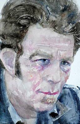 Painting - Tom Waits - Watercolor Portrait by Fabrizio Cassetta