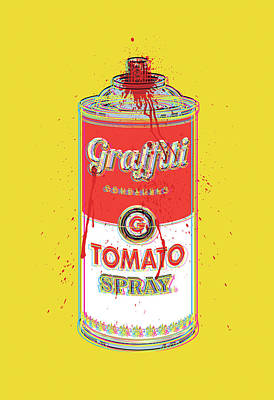 Digital Art - Tomato Spray Can by Gary Grayson