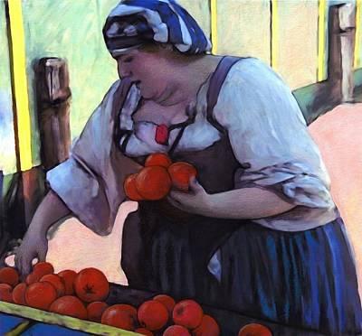 Tomatoe Wall Art - Digital Art - Tomatoe Lady by Snake Jagger