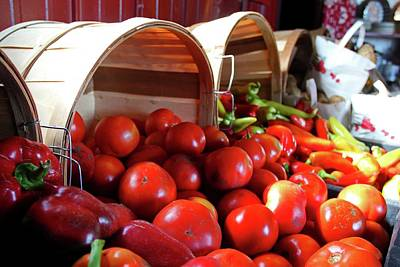 Photograph - Tomatoes And Peppers by Michiale Schneider
