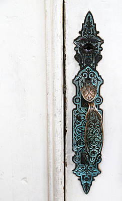 Photograph - Tombstone Courthouse Door Handle by Mary Bedy