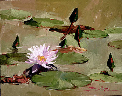Painting - Tomorrow's Blooms- Water Lilies by Betty Jean Billups
