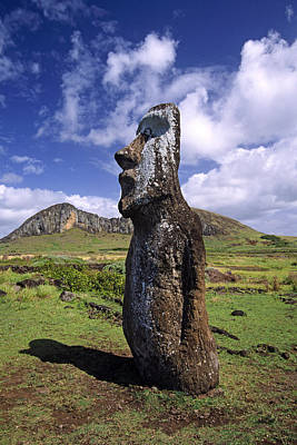 Photograph - Tongariki Moai On Easter Island by Michele Burgess