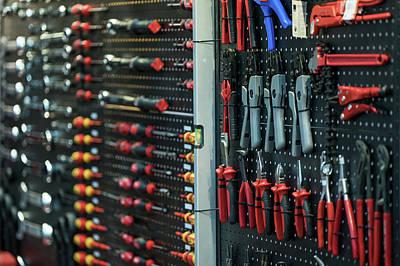 Photograph - Tool In Maintenance Shop by Anek Suwannaphoom