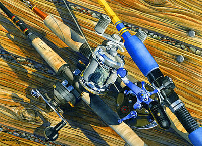 Trout Painting - Tools Of The Troll by Mark Jennings
