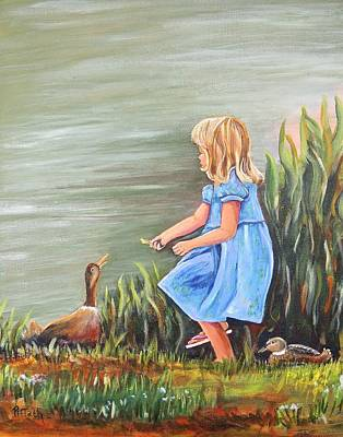 Painting - Tori And Her Ducks by Patricia Piffath