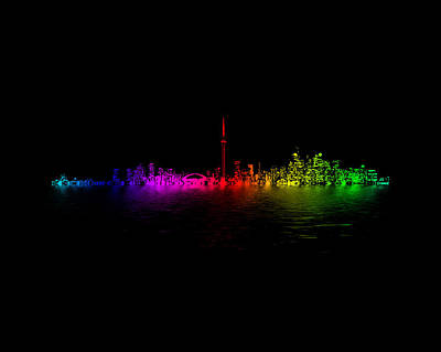 Abstract Skyline Rights Managed Images - Toronto Rainbow Reflection Royalty-Free Image by Brian Carson