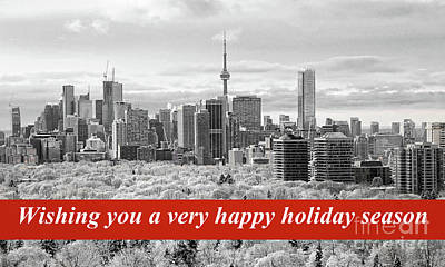 Photograph - Toronto Holiday Card by Charline Xia