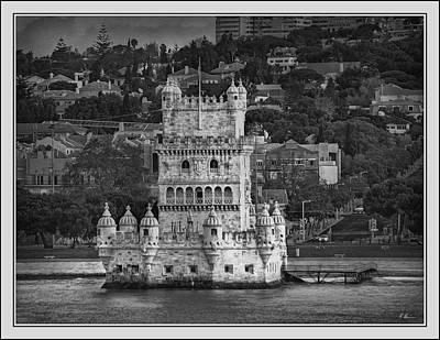 Photograph - Torre De Belem B. W. by Hanny Heim