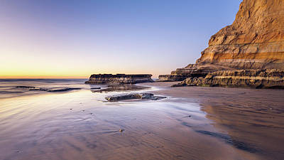 Photograph - Torrey Pines - Flat Rock At Low Tide by Alexander Kunz