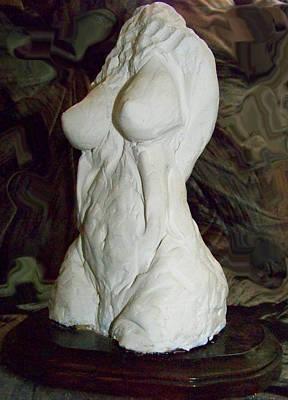 Sexual Human Nature Sculpture - Torso by Azul Fam