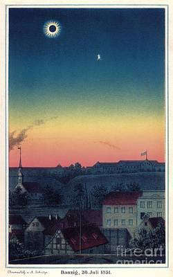 Total Solar Eclipse, 1851 Artwork Print by Detlev van Ravenswaay
