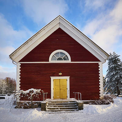 Photograph - Tottijarvi Church by Jouko Lehto