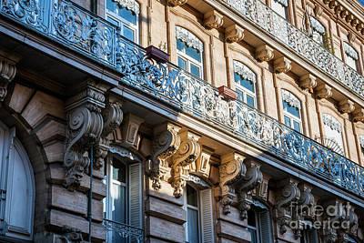 Baroque Photograph - Toulouse Facade by Elena Elisseeva