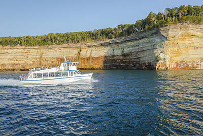 Photograph - Tour Ship Pictured Rocks by Jack R Perry