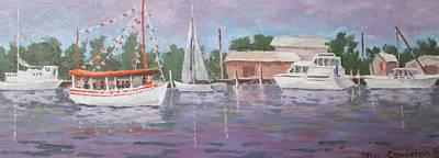 Painting - Tourist Boat by Tony Caviston