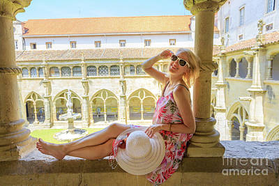 Photograph - Tourist Woman In Coimbra by Benny Marty