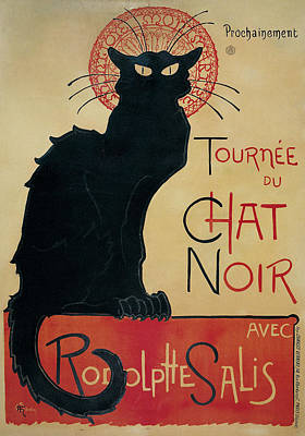Steinlen Drawing - Tournee Du Chat Noir by Celestial Images