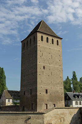 Photograph - Tower At Ponts Couverts  by Teresa Mucha