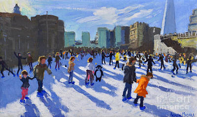 Tower Of London Wall Art - Painting - Tower Of London Ice Rink by Andrew Macara